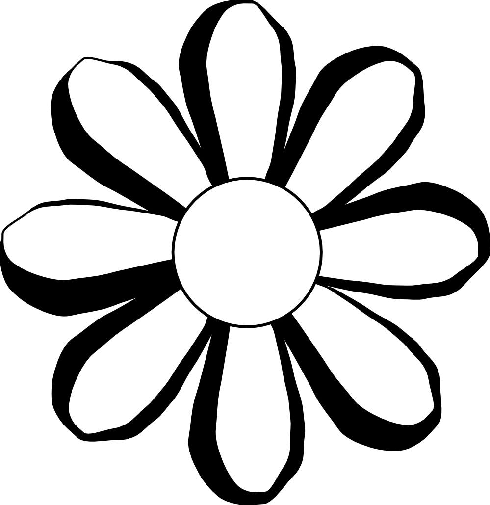 coloring flower clipart black and white black and white colorable sunflower free clip art black and coloring clipart flower white