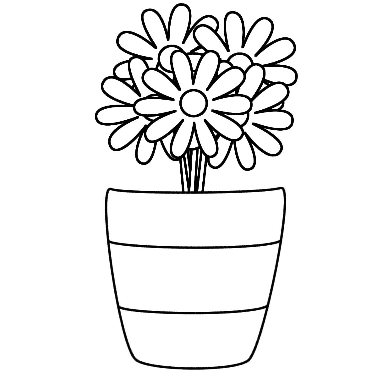 coloring flower clipart black and white black and white flower clipart clipart best and white clipart black coloring flower