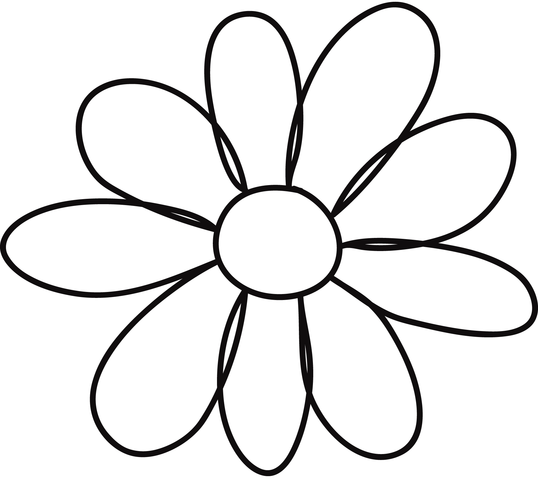 coloring flower clipart black and white coloring flowers in black and white stock vector and clipart white black coloring flower