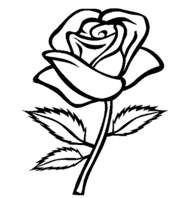 coloring flower clipart black and white cute spring flower coloring page 1 free clip art white clipart flower and coloring black