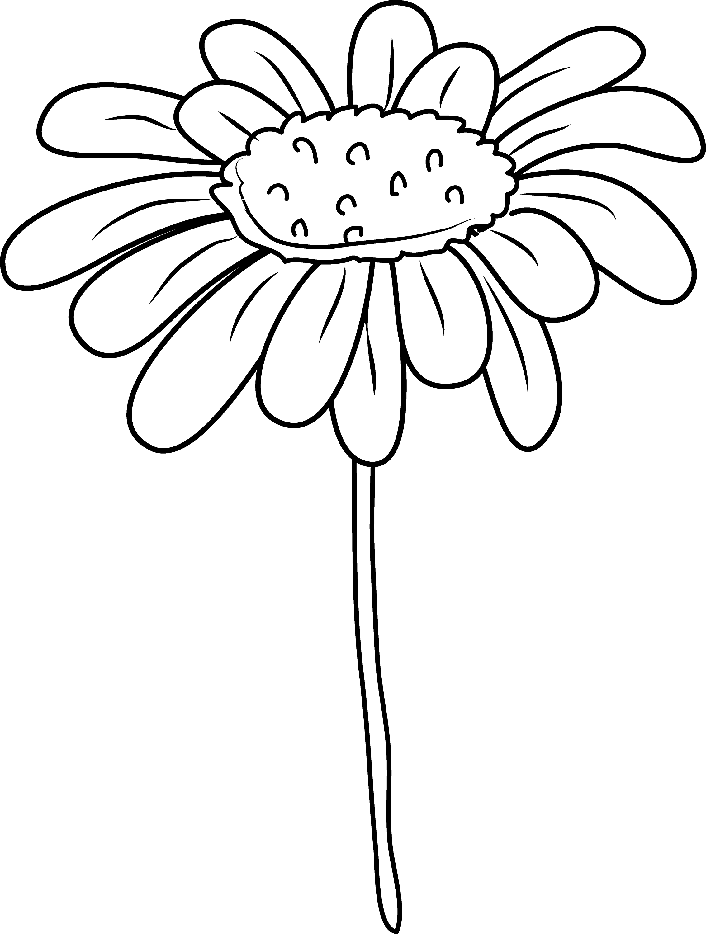 coloring flower clipart black and white daisy flower coloring page free clip art white black clipart coloring flower and