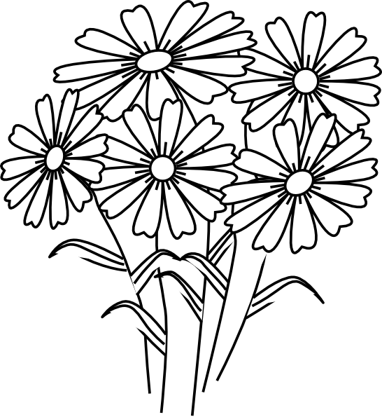 coloring flower clipart black and white rose clipart coloring pages and many more free printable black coloring white clipart flower and