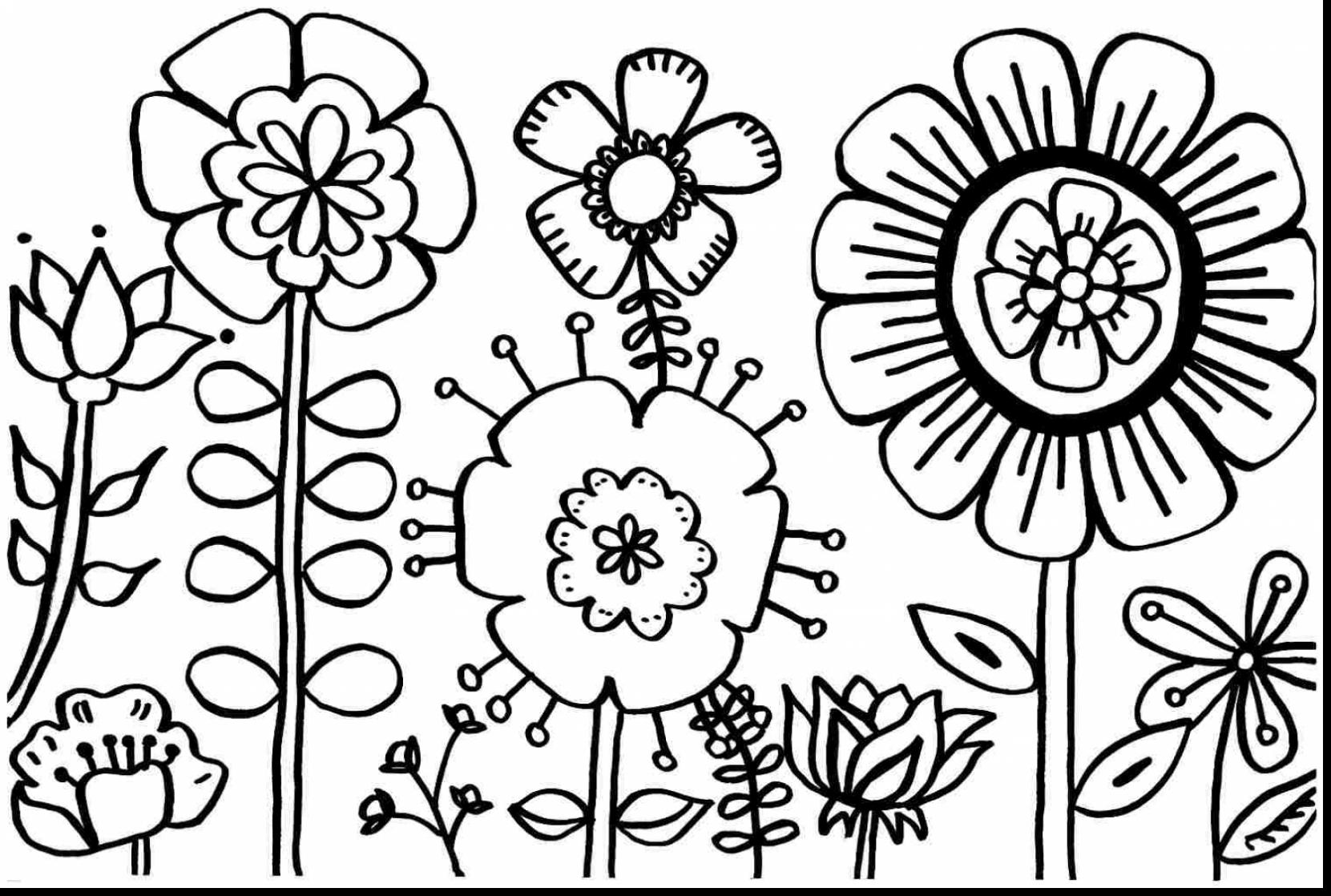 coloring flower clipart black and white simple flower outline clipart clipground flower white black clipart coloring and