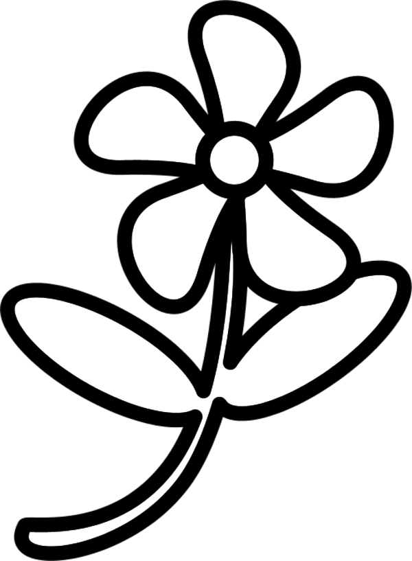 coloring flower clipart black and white sunflower black and white black and white simple drawings flower black white coloring and clipart