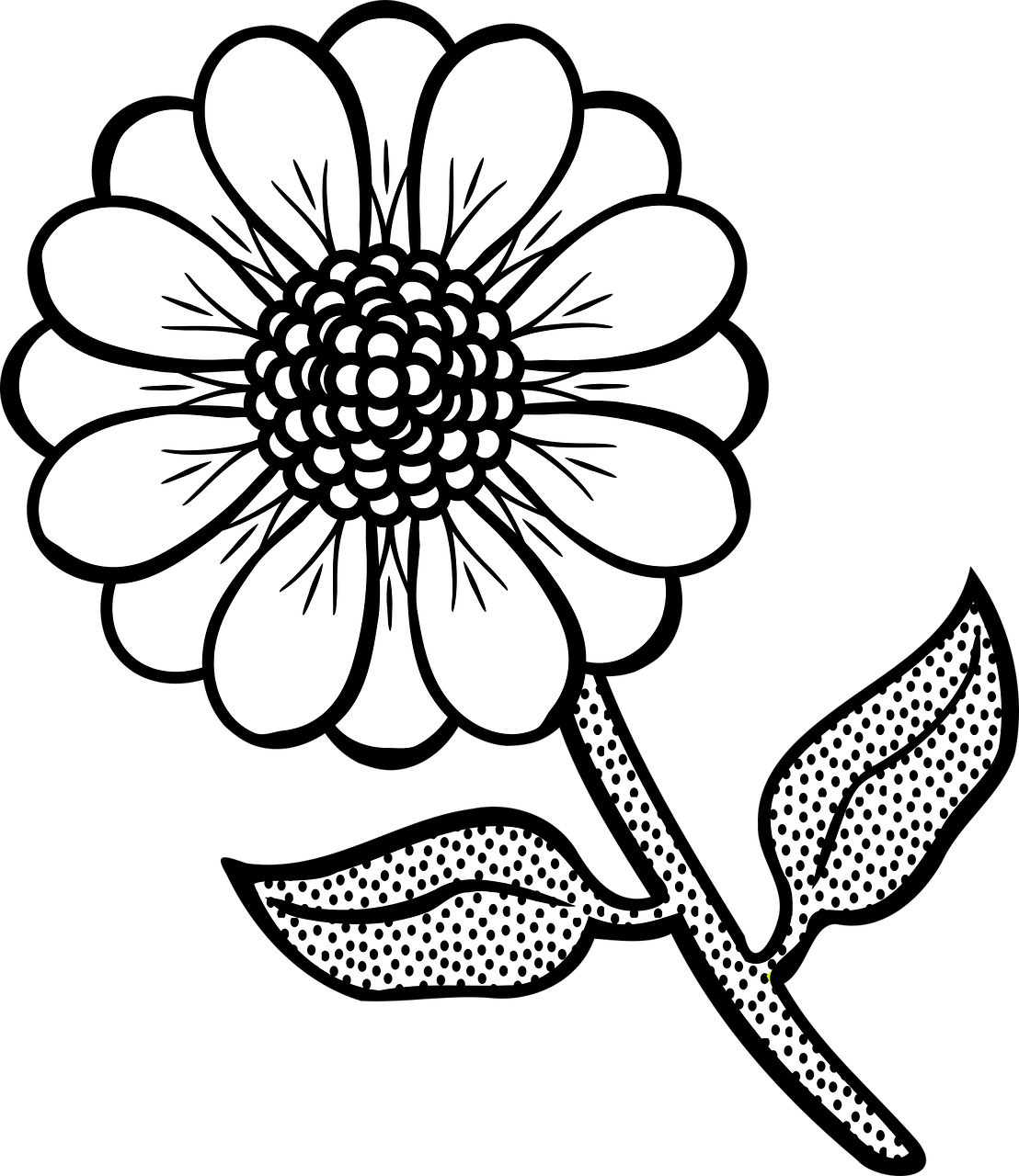 coloring flower png clipart simple flower bw coloring flower png