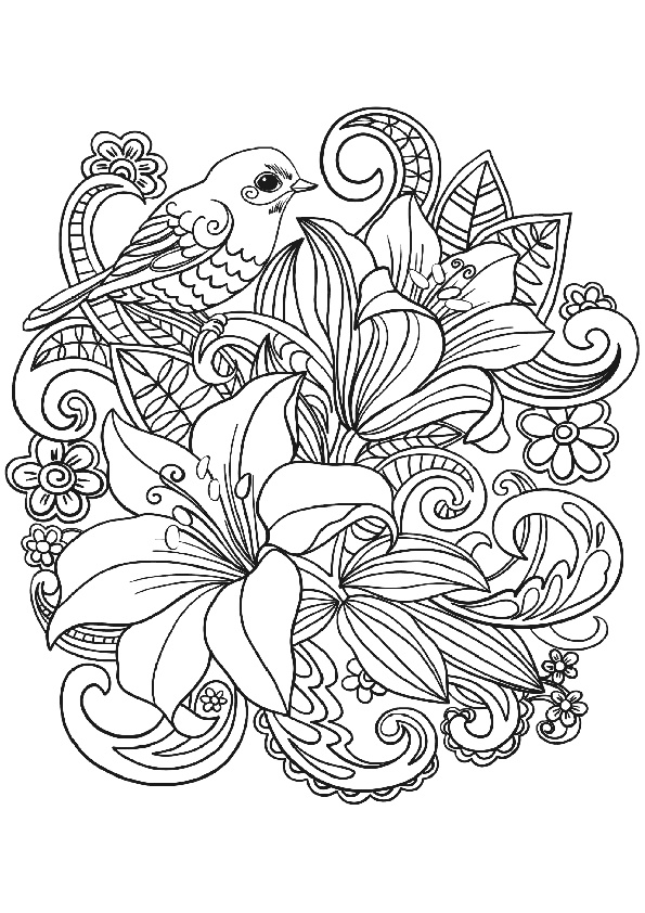 coloring flowers for adults free printable adult coloring pages flower coloring pages coloring flowers adults for