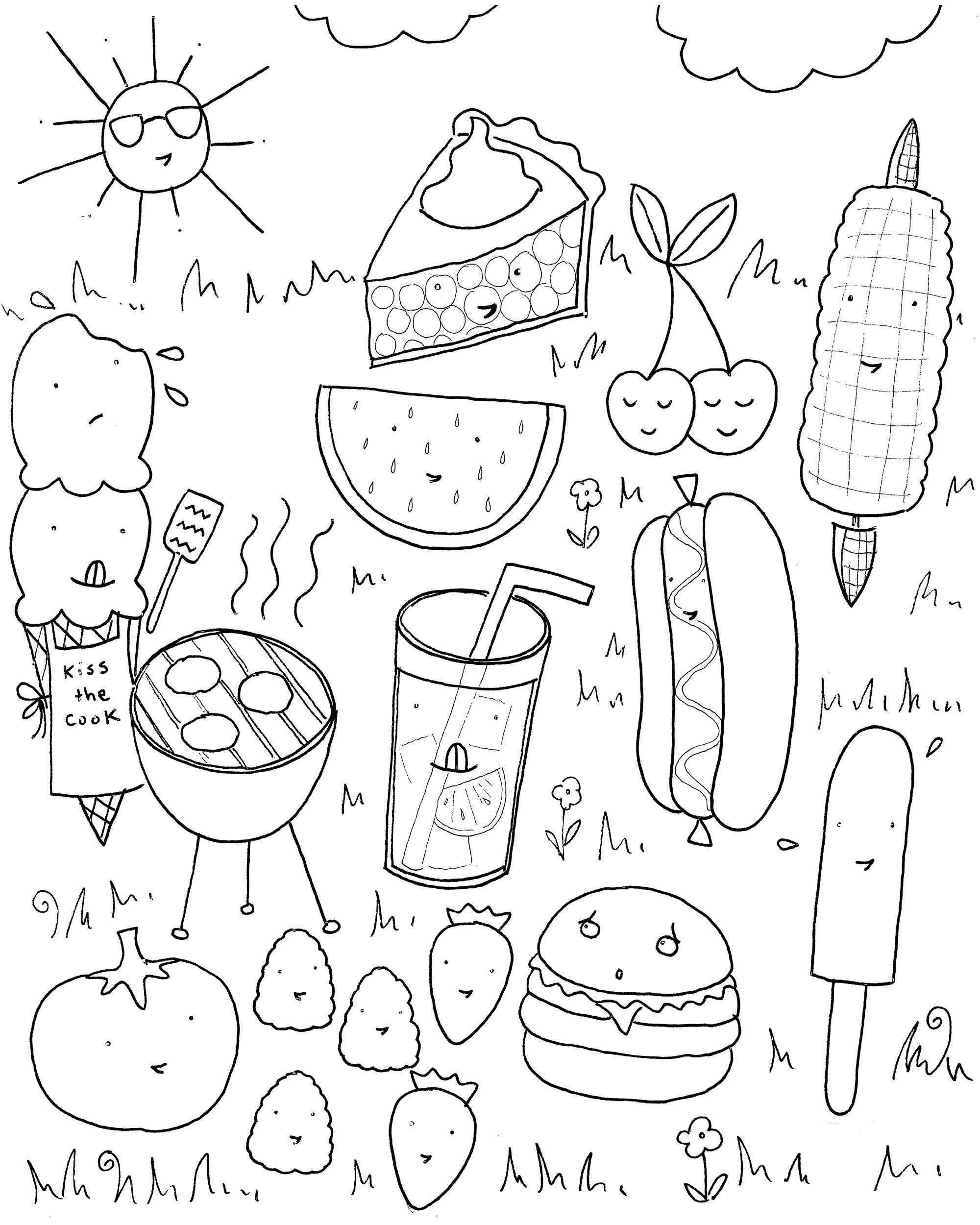 coloring food for kids printable healthy eating chart coloring pages food for kids coloring
