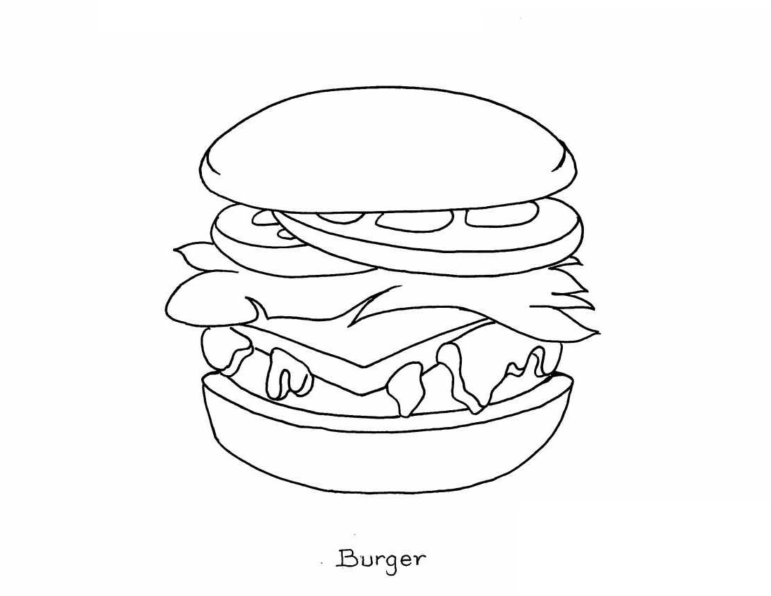 coloring food for kids snacks coloring pages getcoloringpagescom kids for food coloring