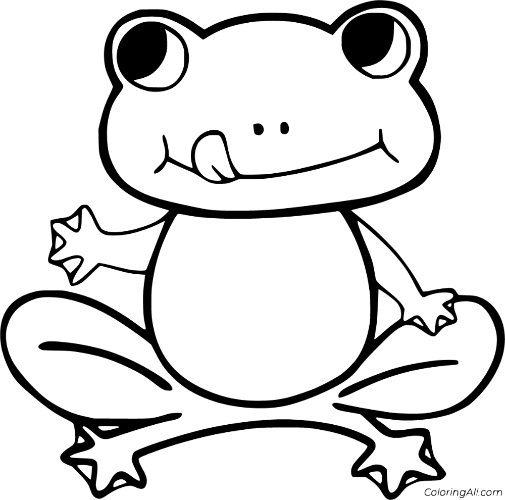 coloring frog outline images frogs to print for free frogs kids coloring pages outline images frog coloring