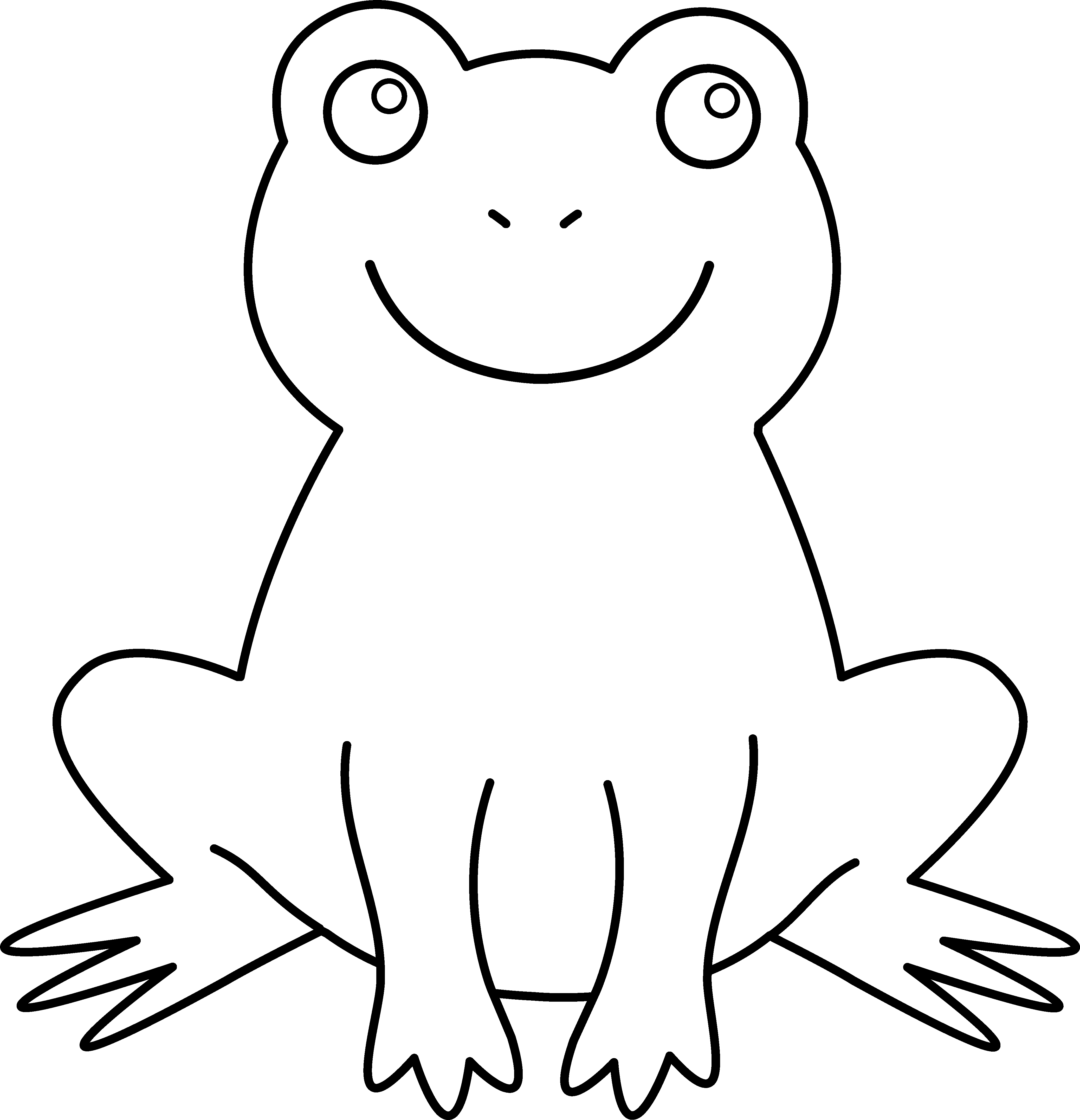 coloring frog outline images line drawing of frogs at getdrawings free download images coloring frog outline