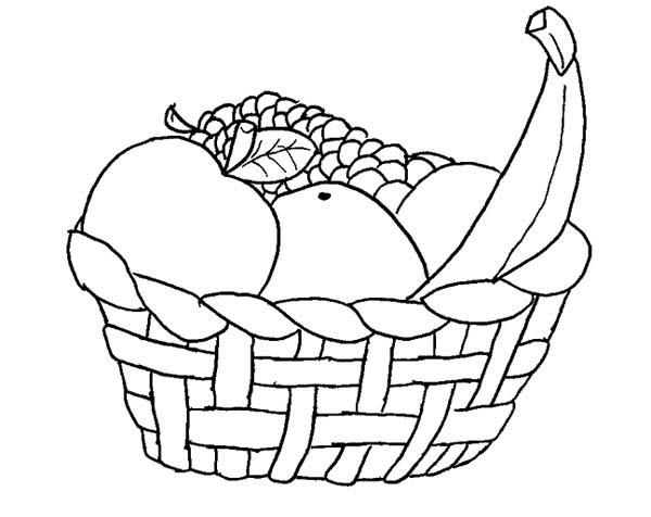 coloring fruits and vegetables in a basket basket of fruits and vegetables basket of vegetables and vegetables basket a fruits coloring in