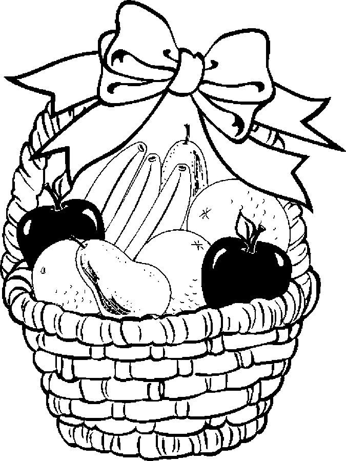 coloring fruits and vegetables in a basket basket of vegetables drawing at getdrawings free download coloring vegetables fruits in a and basket