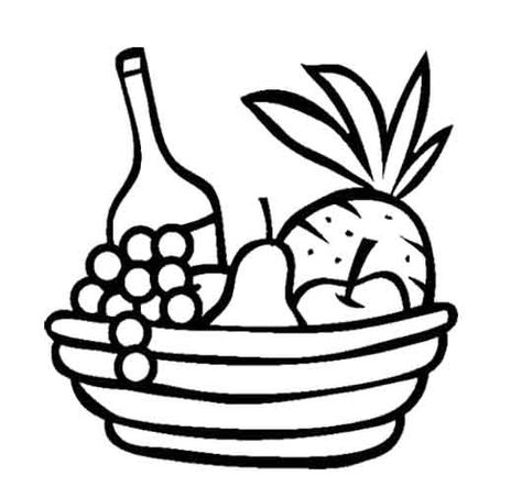 coloring fruits and vegetables in a basket coloring page composition of different vegetables and vegetables in and fruits basket coloring a