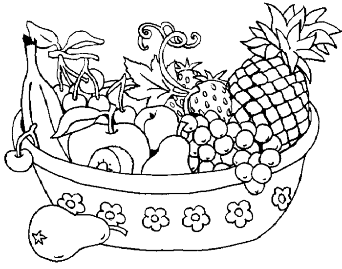 coloring fruits and vegetables in a basket free coloring pages of vegetable gardens and vegetables fruits basket in coloring a