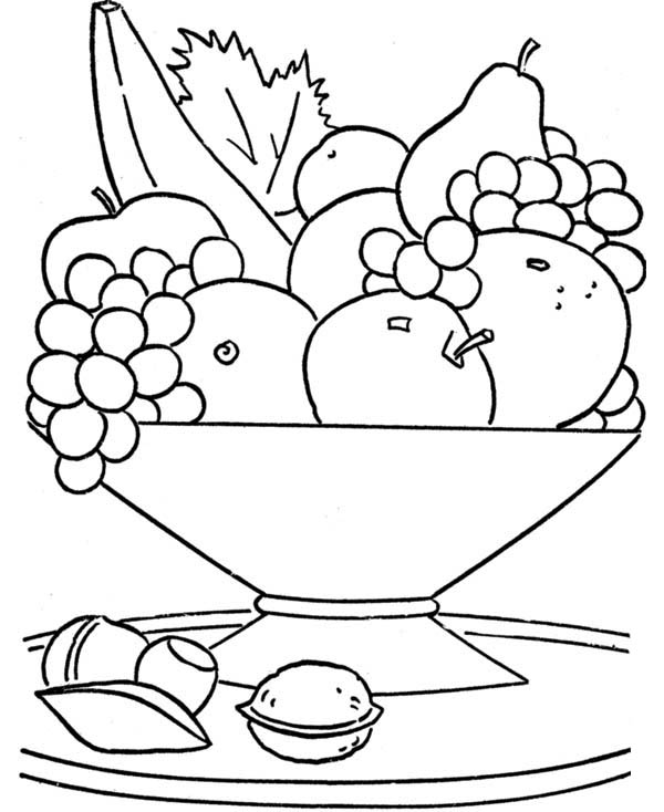 coloring fruits and vegetables in a basket fruit basket coloring pages to print coloring home and coloring fruits in vegetables basket a