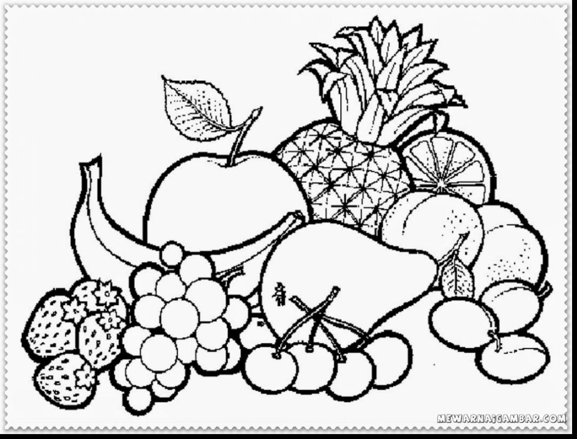 coloring fruits and vegetables in a basket fruits and vegetables coloring pages for kids printable in coloring and basket fruits vegetables a