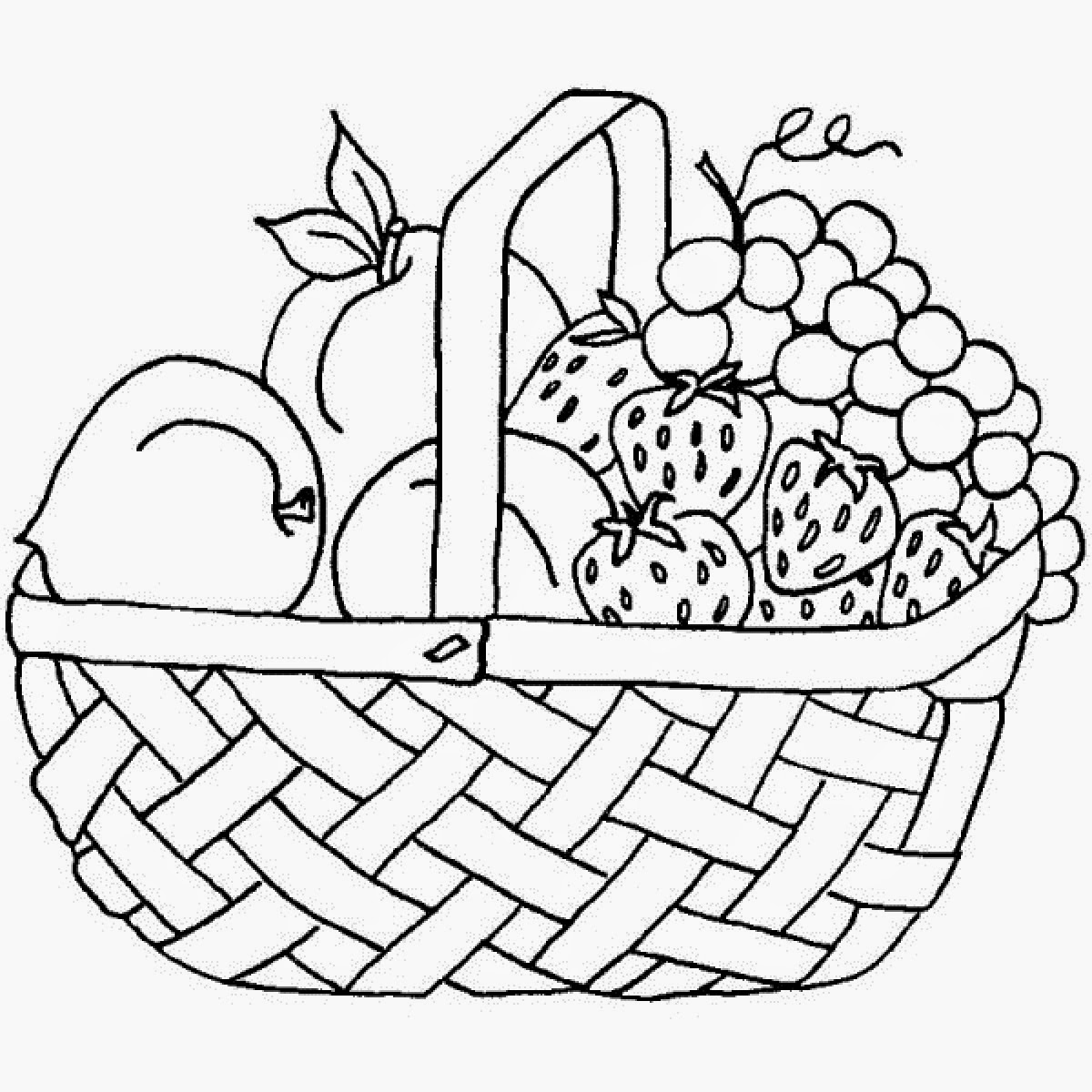coloring fruits basket craftsactvities and worksheets for preschooltoddler and fruits basket coloring