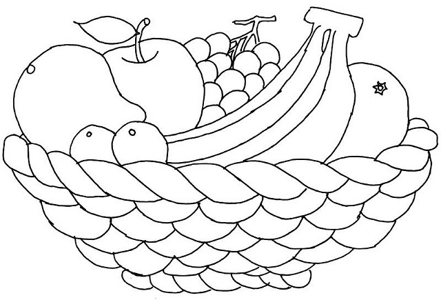 coloring fruits basket fruit basket coloring page health and fitness for fruits coloring basket