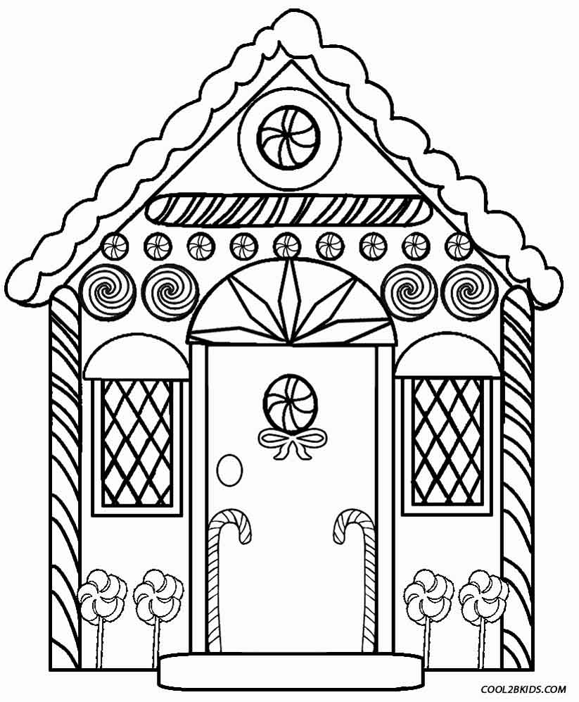 coloring gingerbread house printable gingerbread house coloring pages for kids coloring gingerbread house