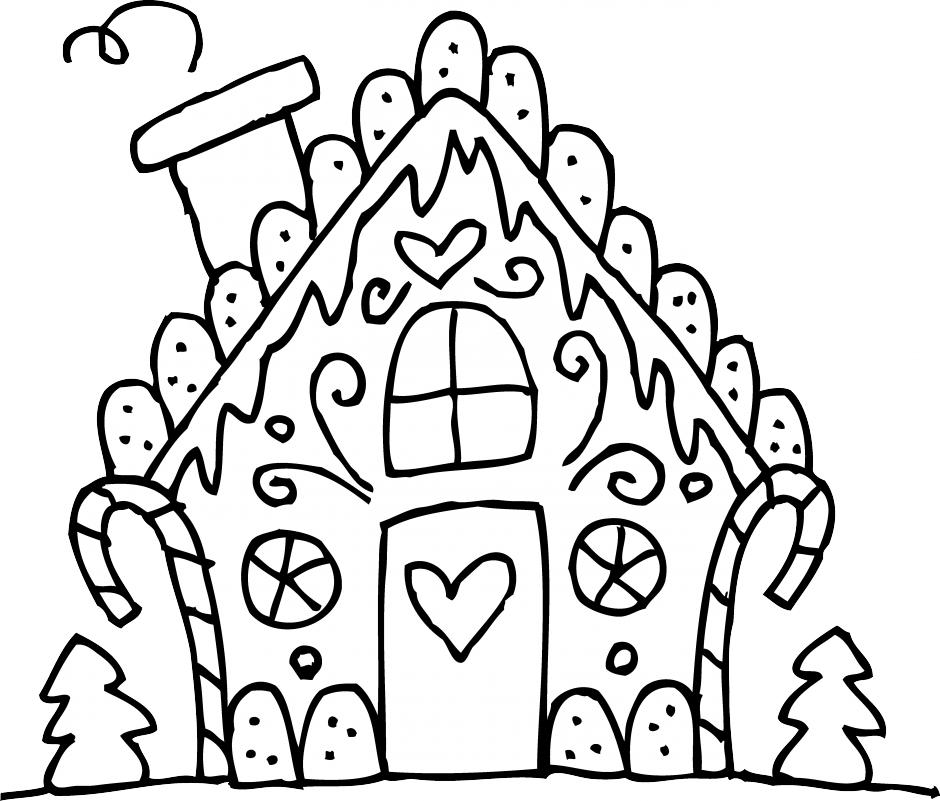 coloring gingerbread house printable gingerbread house coloring pages for kids coloring house gingerbread