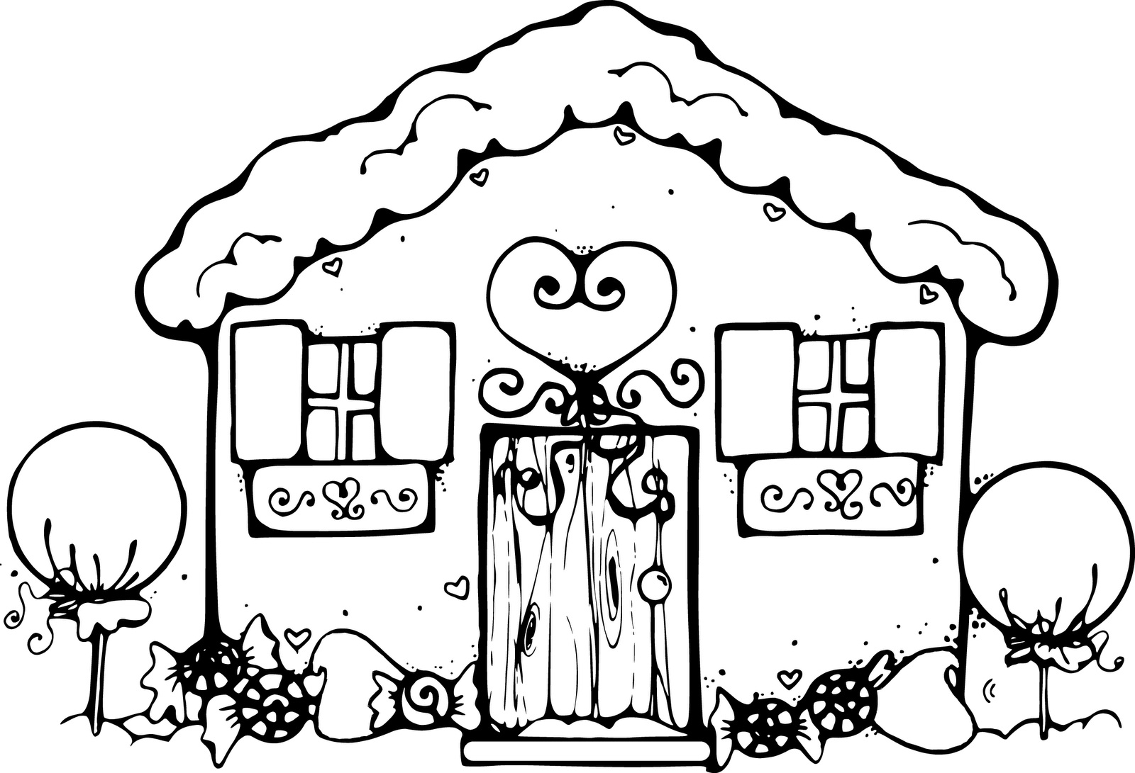 coloring gingerbread house printable holiday coloring pages gingerbread house coloring