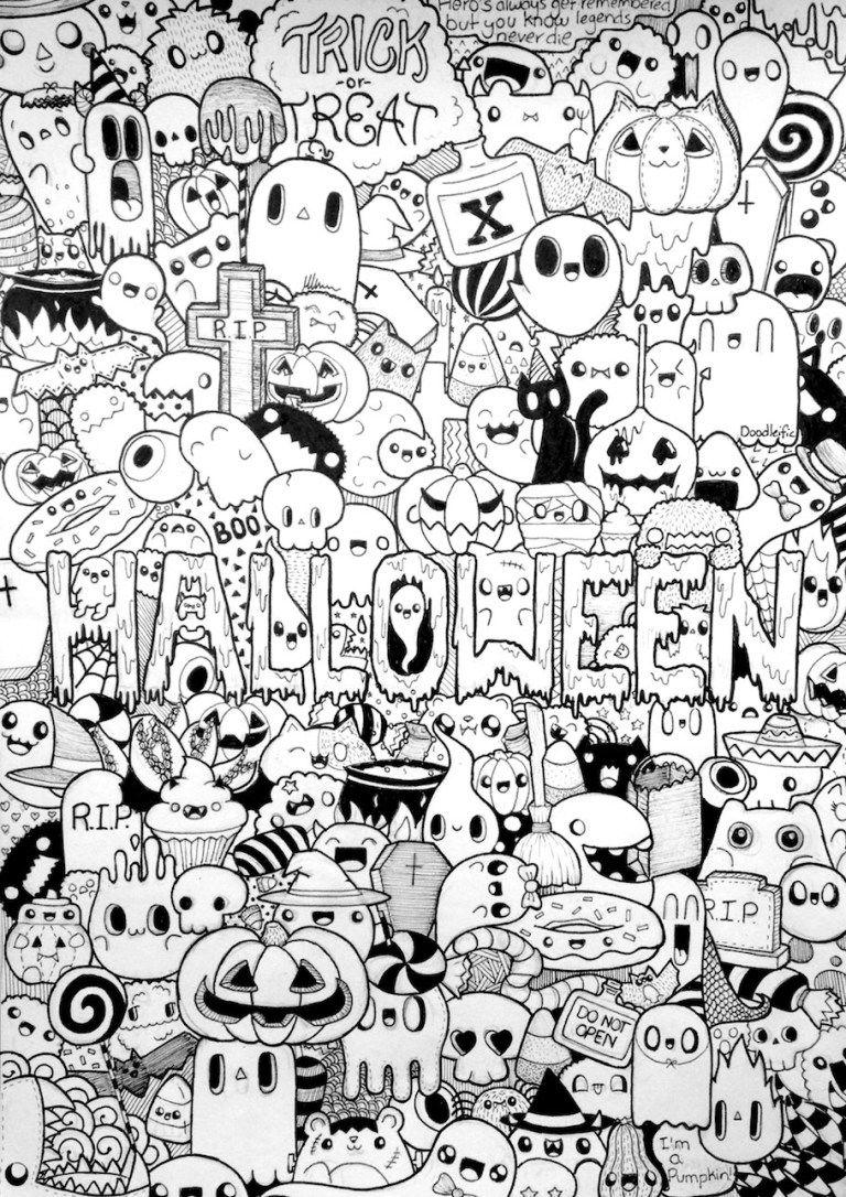 coloring halloween doodle pages halloween doodles doodle coloring pages halloween doodle halloween pages coloring