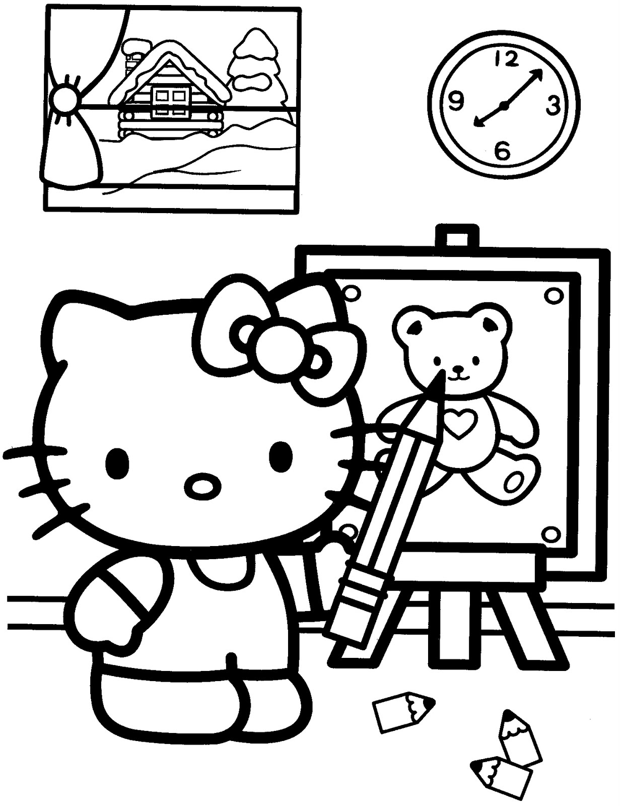 coloring hello kitty hello kitty coloring pages 02 of 15 drawing hd kitty hello coloring