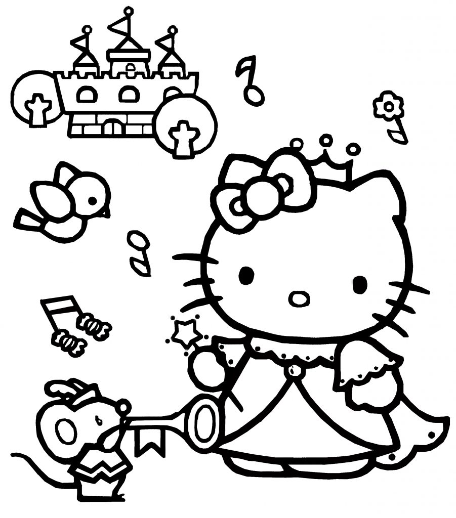 coloring hello kitty hello kitty coloring pages 06 of 15 princess hd hello coloring kitty