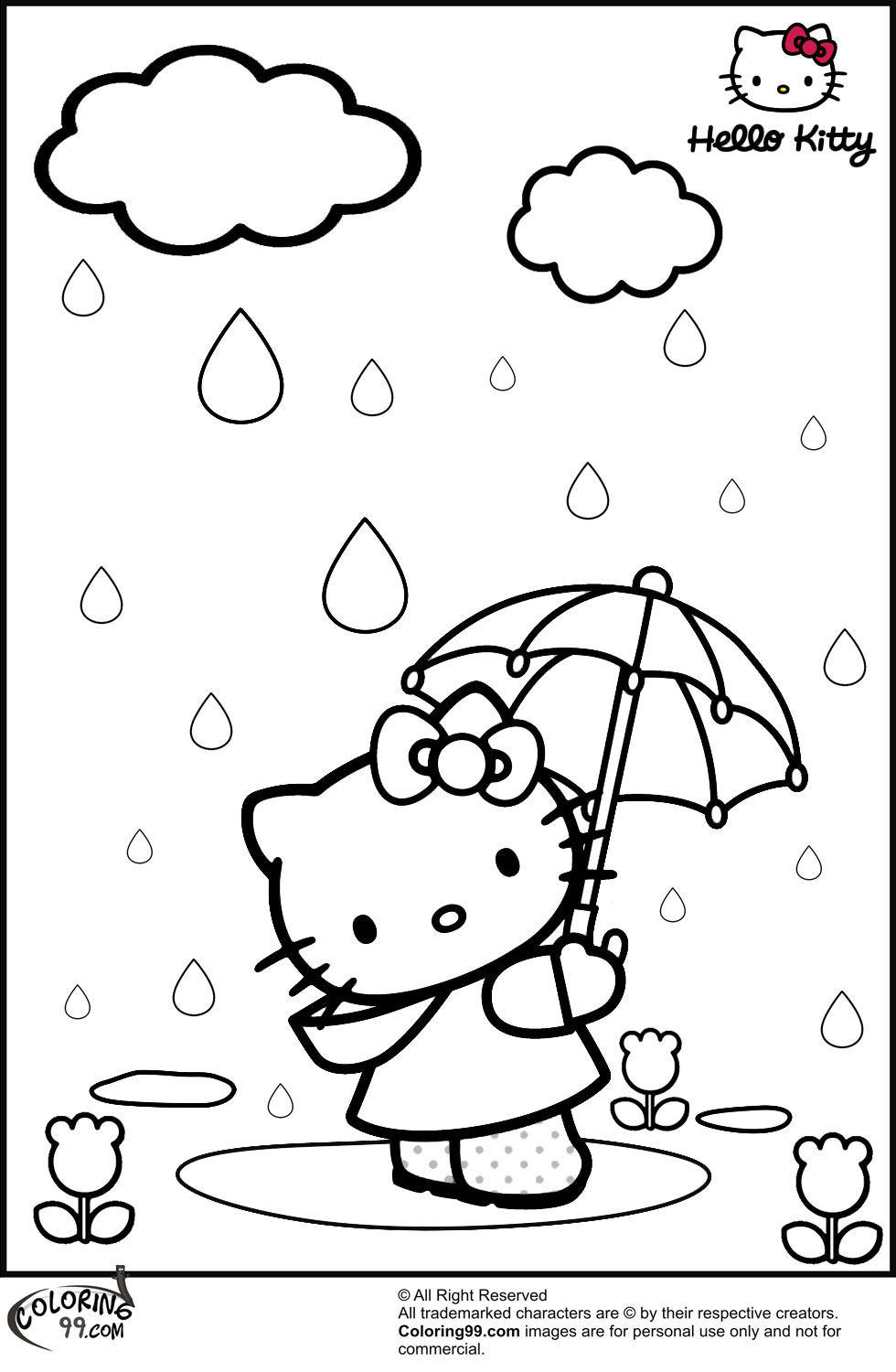 coloring hello kitty hello kitty coloring pages getcoloringpagescom coloring kitty hello