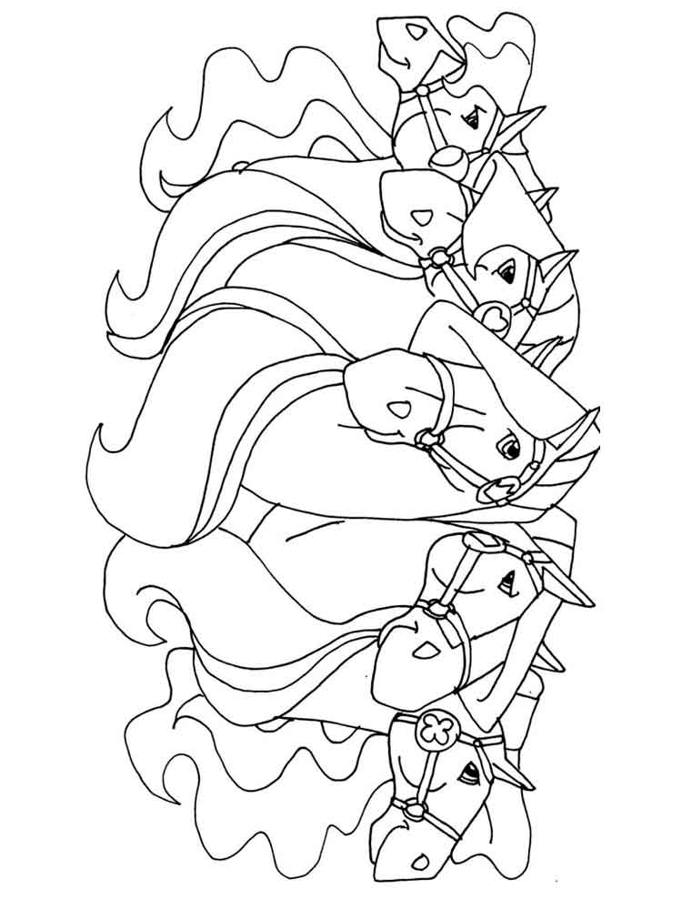 coloring horseland horseland cartoons page 3 printable coloring pages horseland coloring