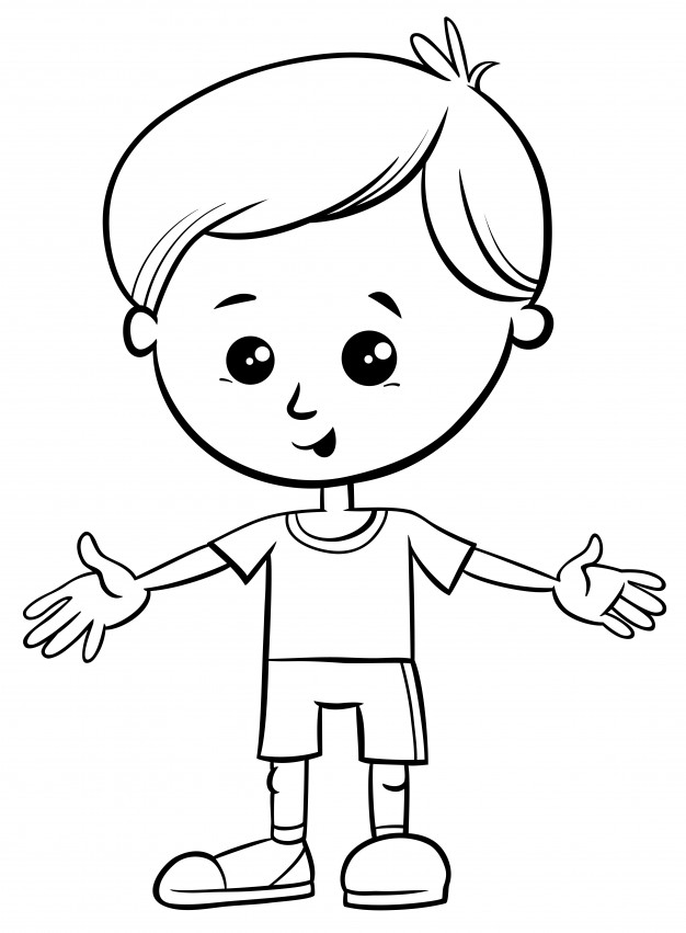 coloring image of boy free printable boy coloring pages for kids coloring of boy image