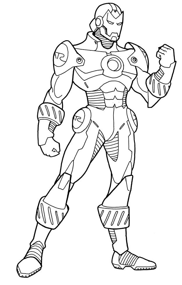 coloring iron man outline free printable iron man coloring pages for kids best outline coloring iron man