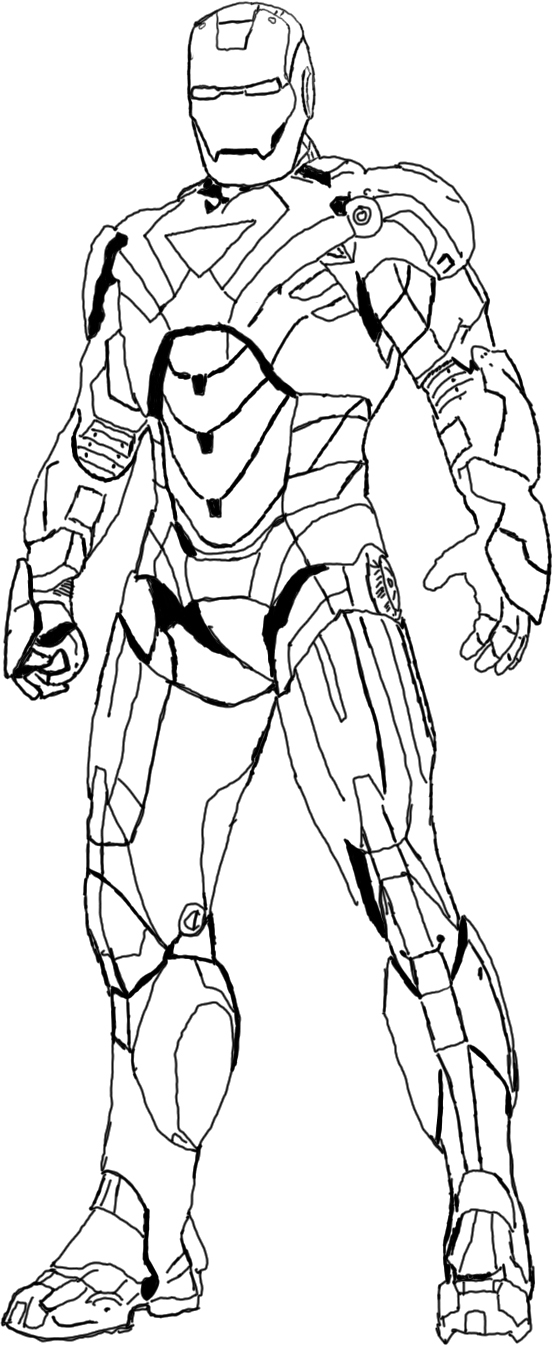 coloring iron man outline iron man outline drawing at getdrawings free download man coloring iron outline