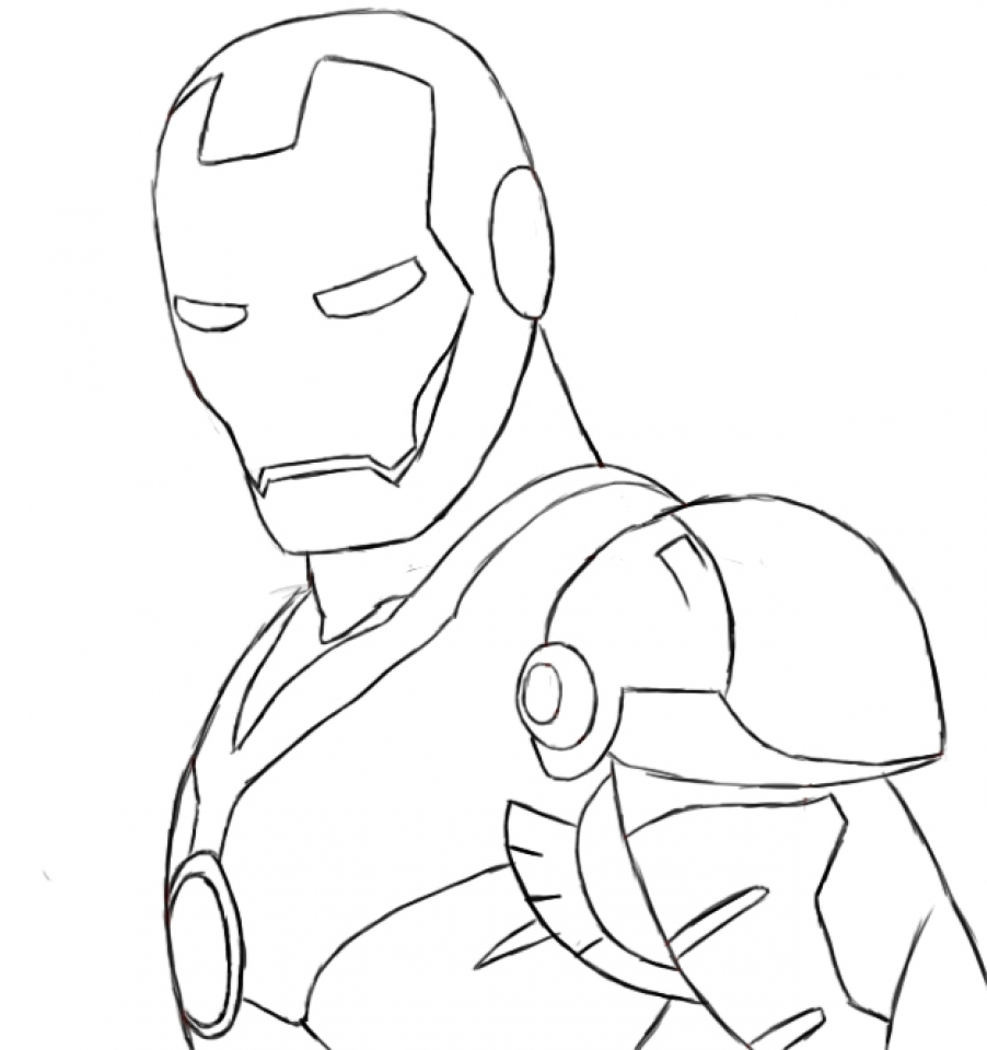 coloring iron man outline iron man outline drawing at paintingvalleycom explore man outline iron coloring