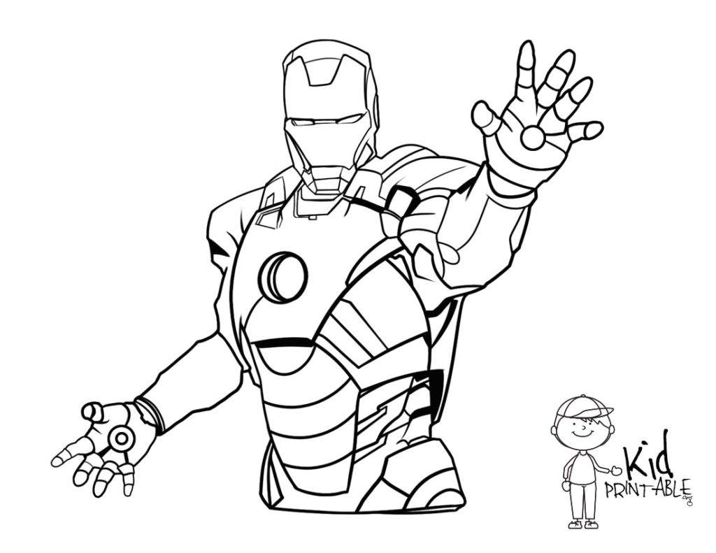 coloring iron man outline iron man superhéroes page 4 páginas para colorear iron coloring outline man