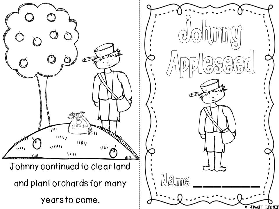 coloring johnny appleseed being a good citizen coloring page printable johnny coloring appleseed johnny