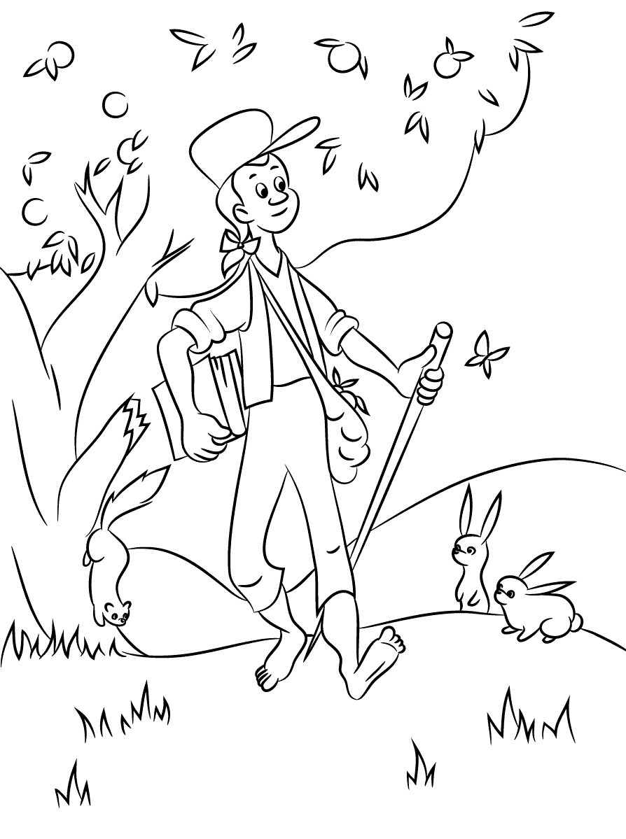 coloring johnny appleseed johnny appleseed coloring pages best coloring pages for kids coloring johnny appleseed
