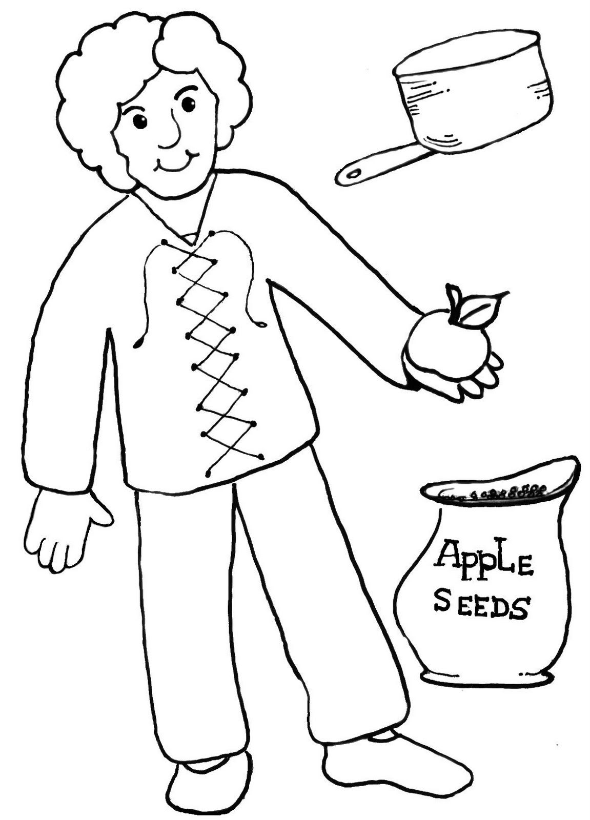coloring johnny appleseed johnny appleseed coloring pages coloring home coloring johnny appleseed