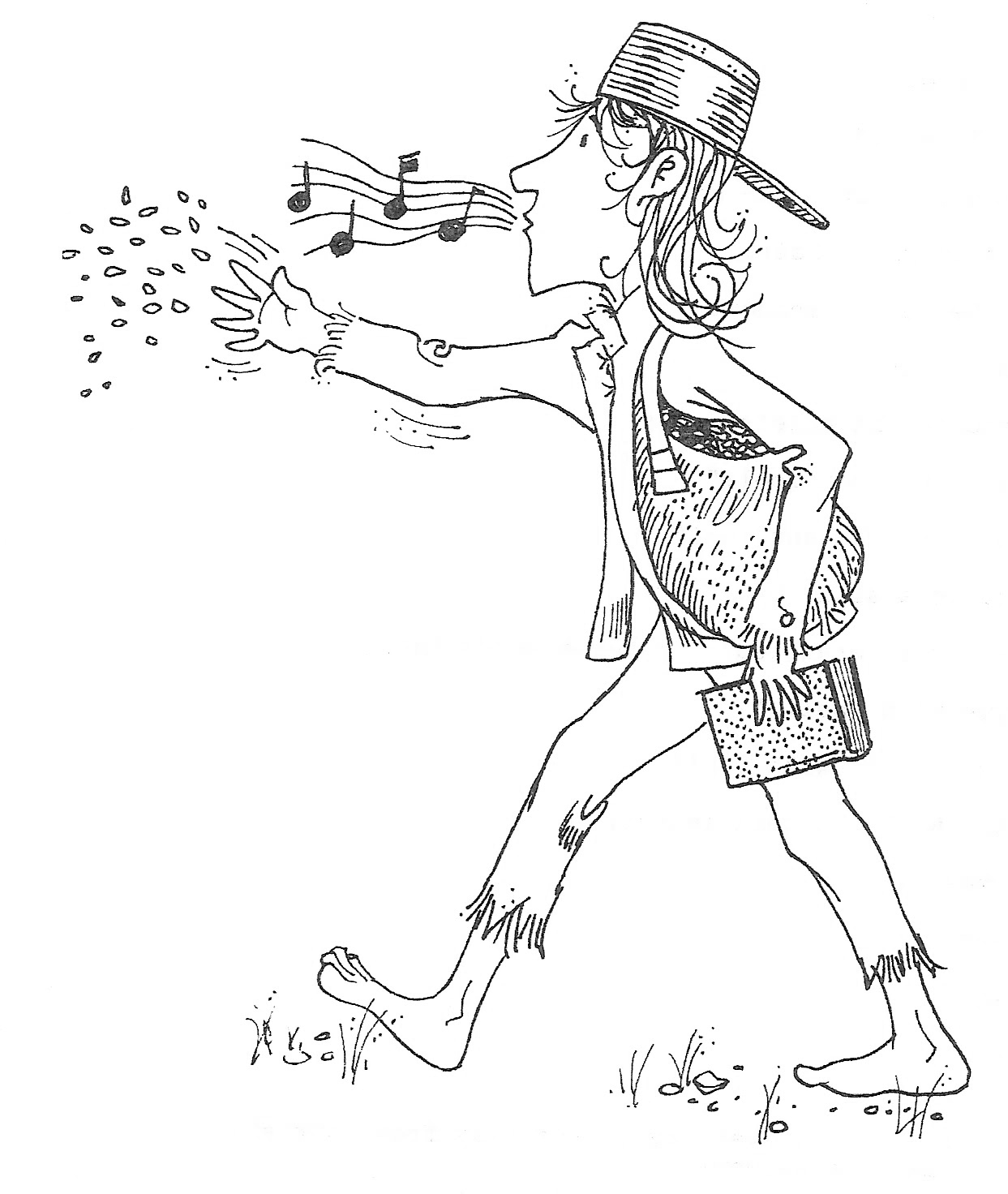 coloring johnny appleseed johnny appleseed hat coloring page by teaching with love johnny coloring appleseed
