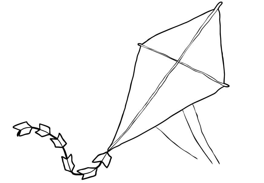 coloring kite black and white bw kite sketch to colour 15 cm this clipart drawing has coloring white and black kite