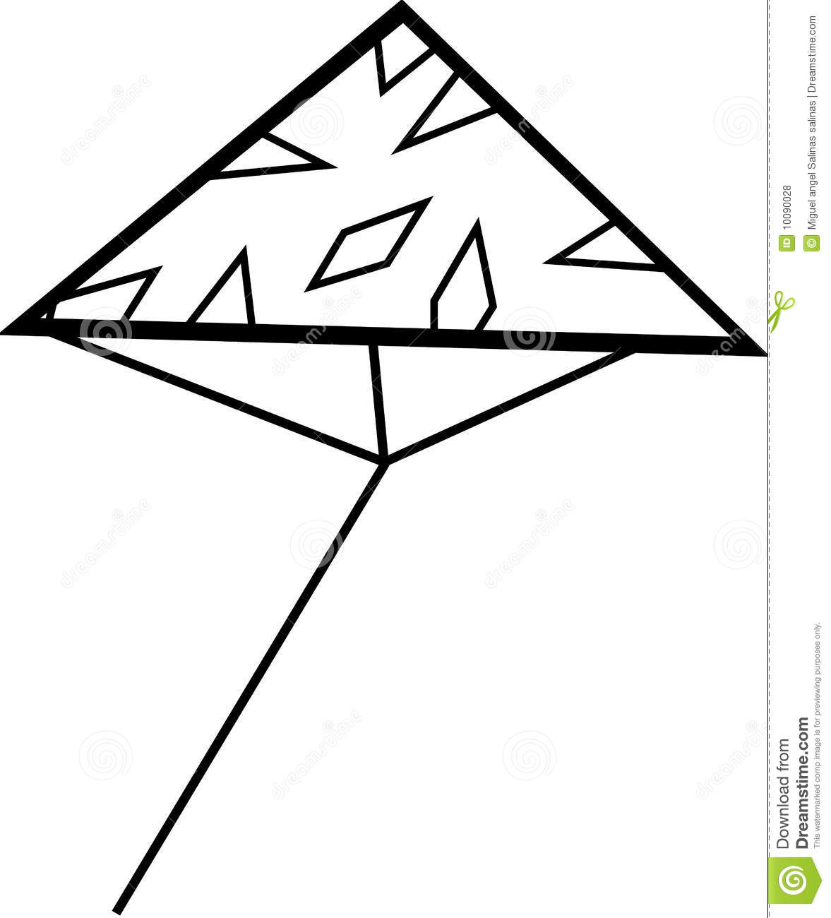 coloring kite black and white clip art windy clipartsco and white kite coloring black