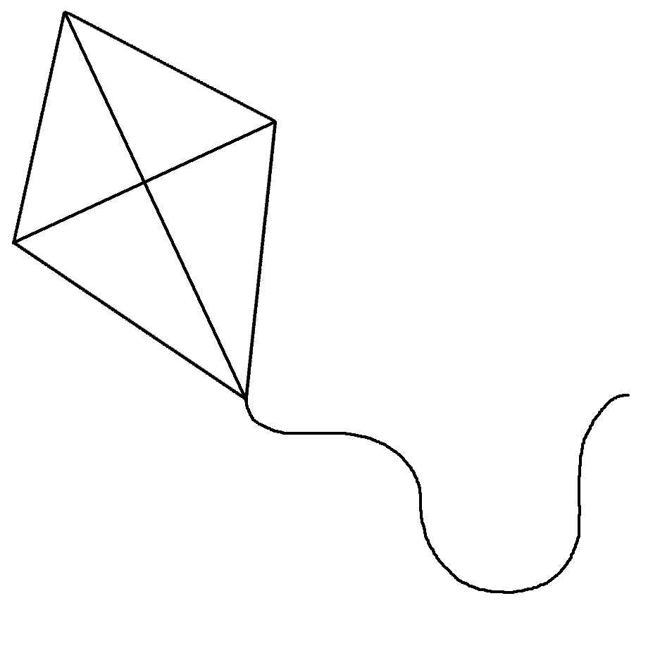 coloring kite black and white kite black and white clipart free images at clkercom and coloring black kite white