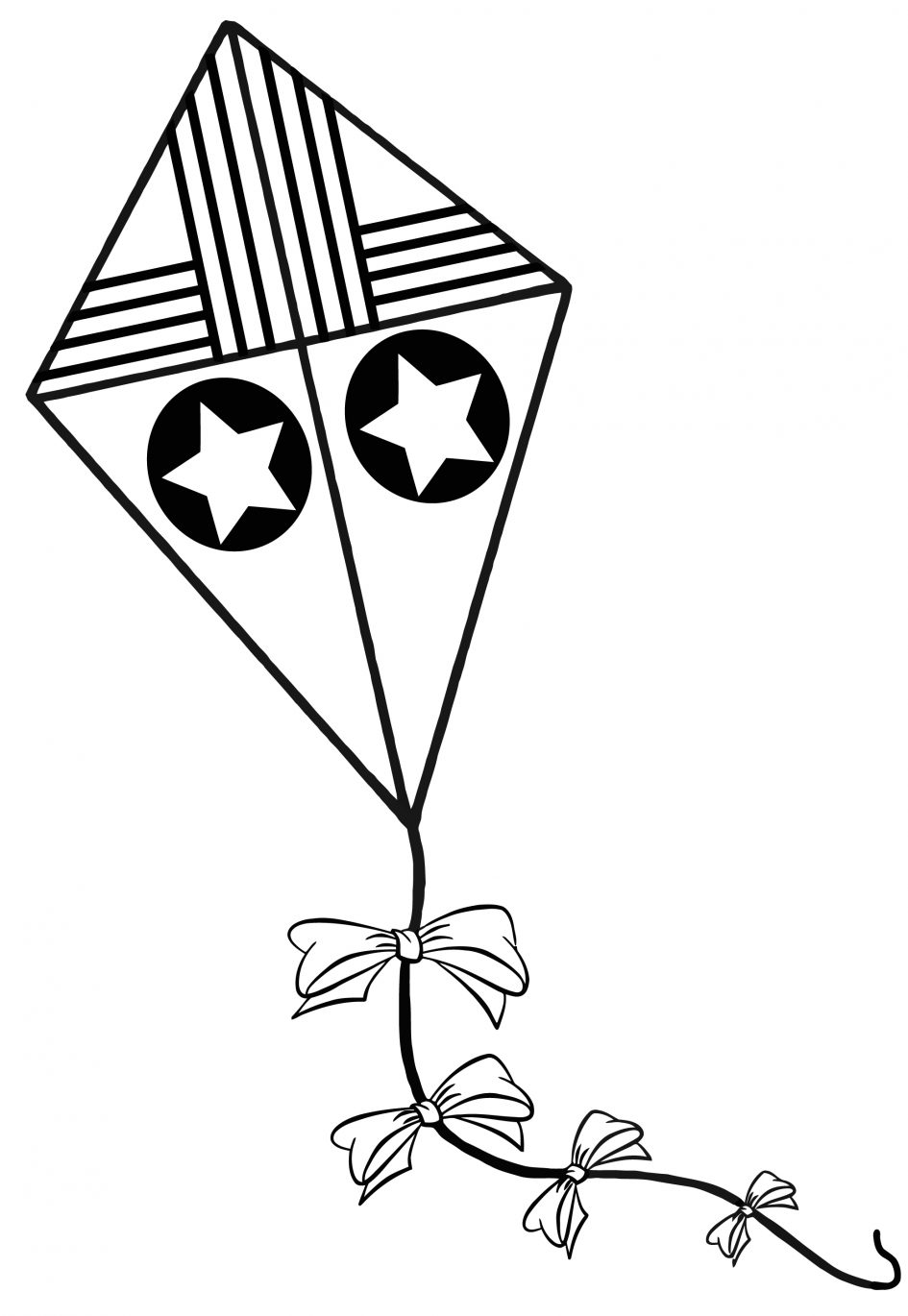 coloring kite black and white printable kite coloring pages for kids cool2bkids kite white coloring and black