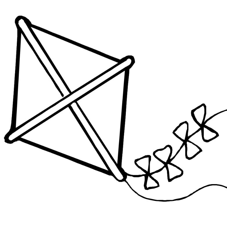 coloring kite black and white spring coloring pages 2018 dr odd kite white coloring and black