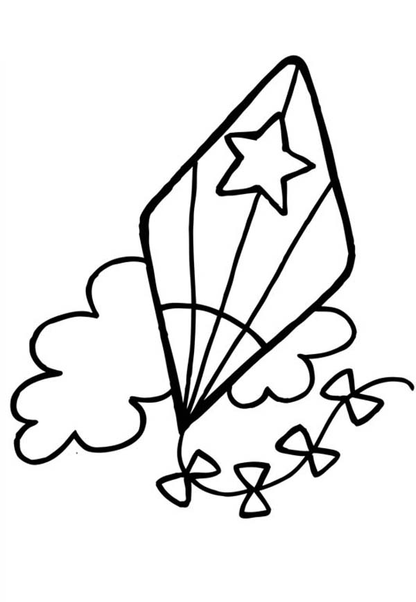 coloring kite images black and white kite cartoon images coloring page coloring and kite white images black