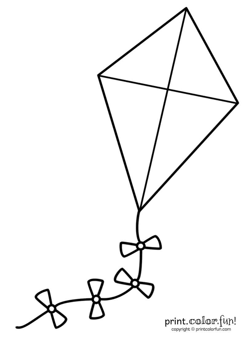 coloring kite images black and white kite coloring page printable spring coloring ebook images coloring kite white black and