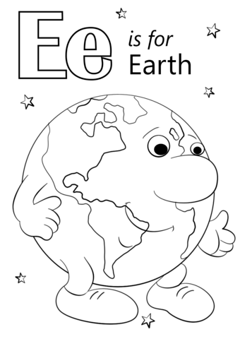 coloring letter e worksheet preschool letter e is for earth coloring page free printable coloring worksheet e preschool letter