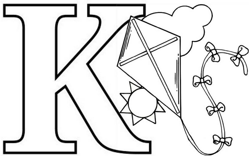 coloring letter k free alphabetphonics coloring pages from sherriallencom letter k coloring