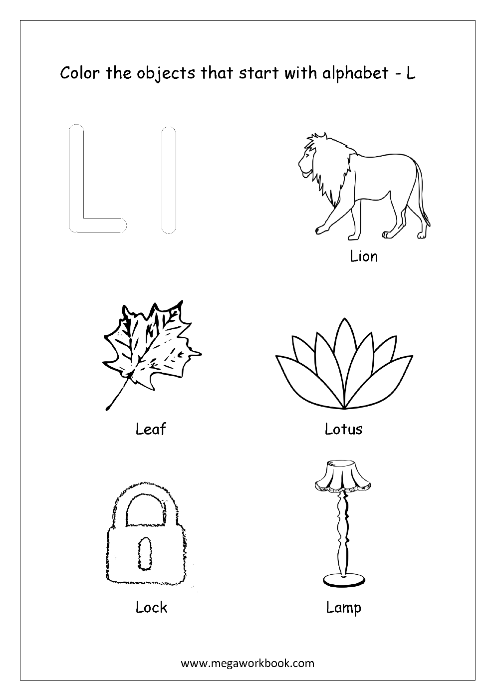 coloring letter l objects 6 best printable letter s activities printableecom coloring letter objects l