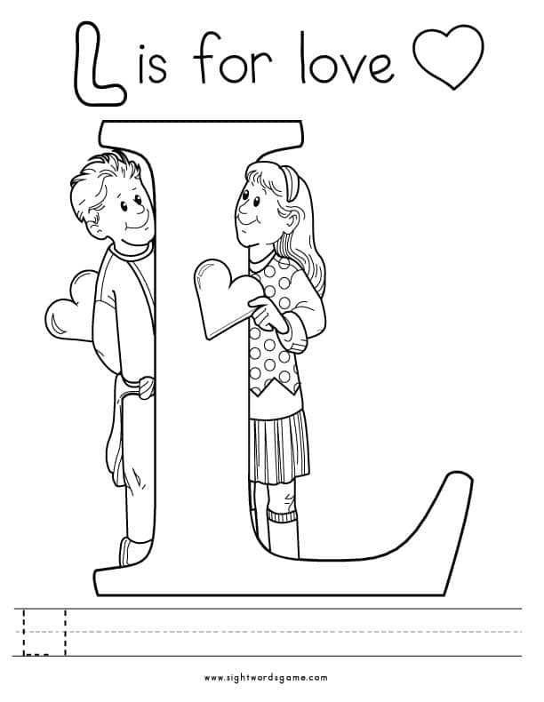coloring letter l objects letter l drawing at getdrawings free download coloring letter l objects